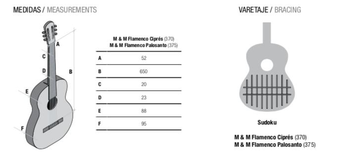 Dimensions Mengual & Margarit Flamenco